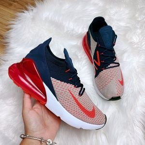 Nike Air Max 270 Flyknit USA Navy Blue Red